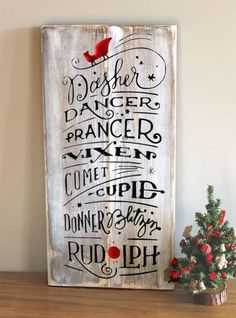 Are you looking for that one of a kind Christmas decoration? This cute little rustic reindeer names wood sign will make your home feel so warm and cozy for the holidays. It will fill your home with the old fashioned Christmas feeling and send warm feeling Christmas Signs Wood, Holiday Signs, Christmas Names, Christmas Qoutes, Christmas Scripture, Christmas Feeling, Winter Christmas, Old Time Christmas, Soulful Christmas
