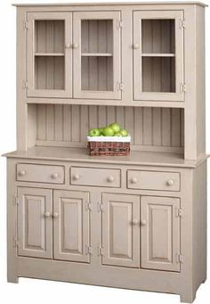 Amish Pine Wood Farmhouse Hutch Country Kitchen