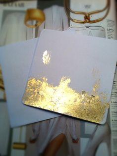 Handmade Gold Leaf Card and Envelope.