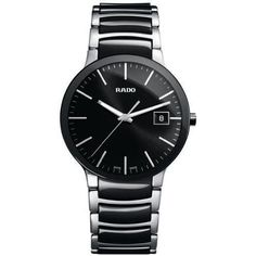 Men's Wrist Watches - Rado R30934162 Centrix Ceramic Mens Watch  Black Dial *** More info could be found at the image url.