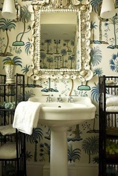 gorgeous powder room