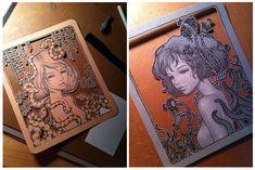 "ink and graphite on hand cut paper  Merry Karnowski Gallery ""Restlessly Still"""