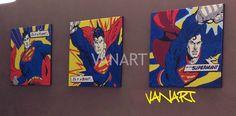 Quadro trilogia Superman - VanArt Shop di Vanessa Simone