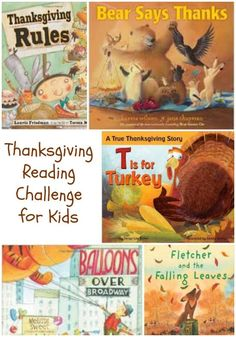 A free printable Thanksgiving reading challenge that will get this kids excited to read books about Thanksgiving!