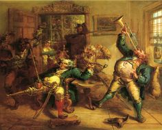 John Quidor, Anthony Van Corlear Brought Into the Presence of Peter Stuyvesant, 1839