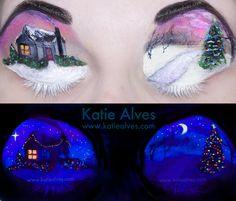 Black Light Christmas by KatieAlves.deviantart.com on @deviantART