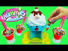 Yummy Nummies Ice Cream Sundae Maker Machine Playset Toy Review by DisneyCarToys - YouTube