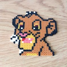 Simba Lion King hama beads by n3us44