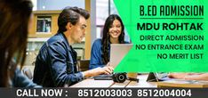 MDU B.ed Admission 2020 Online Application Form, Online Form, Online Registration Form, Bachelor Of Education, Degree Certificate, Teachers College, Course Offering, Entrance Exam, Last Date
