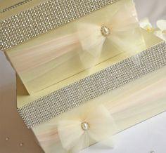 Box measures: x Ribbon colour change no cost. Wedding Post Box, Money Box Wedding, Card Box Wedding, Wedding Ideas, Ribbon Colors, Color Change, Wedding Decorations, Invitations, Diy