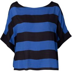 Electric blue and black are a perfect match! Pair this with black pencil ankle pants and black pumps to dress it up!