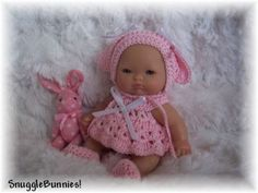 PINK-BUNNY-DRESS-FITS-5-BERENGUER-BABY-REBORN-OOAK