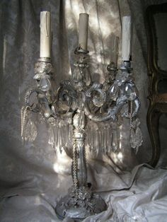 Candles:  #Candles in a beautiful candelabrum. Lady-Gray-Dreams.