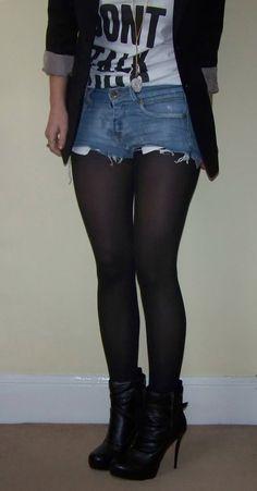 short shorts #denim #hotpants