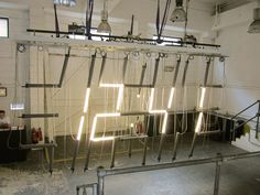 lambert kamps tube lamp clock  london design festival 2016