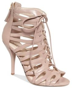 Nine West Shoes, Kenie Gladiator Sandals - Shoes - Loving my new shoes Caged Sandals, Lace Up Sandals, Lace Up Shoes, Me Too Shoes, Shoes Sandals, Guess Shoes, Shoes For School, Shoe Sites, Gladiator Heels