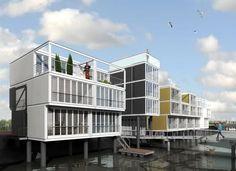 Paalwoningen Amsterdam ijburg