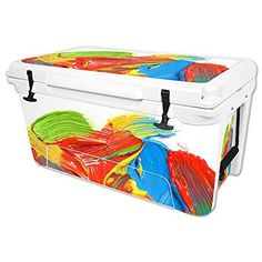 MightySkins Protective Vinyl Skin Decal for RTIC 65 qt Cooler wrap cover sticker skins Paint Strokes ** See this great product.