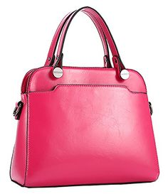 Generic Women's Smooth Red Leather Handbag Medium * Check out the image by visiting the link.