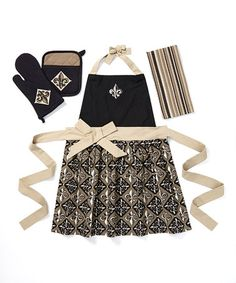 Take a look at this Fleur-de-Lis Apron Set by Design Imports on #zulily today!