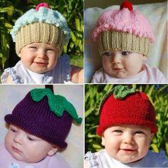 Gorros criativos para bebê.