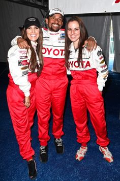 LR TV personality Jillian Barberie Reynolds actor Hill Harper and actress Kate del Castillo attend the 36th annual Toyota pro/celebrity race press...