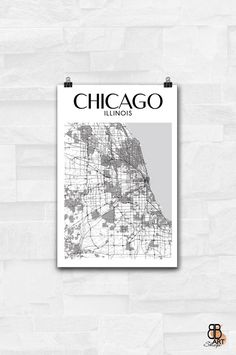 Chicago Print, Chicago, Chicago Art, Chicago Poster, Chicago Map, Chicago Gift, Chicago Illinois Map Print, Chicago City, Chicago Wall Art #ChicagoPrint, #Chicago, #ChicagoArt, #ChicagoPoster, #ChicagoMap, #ChicagoGift, #ChicagoIllinois, #ChicagoMapPrint, #ChicagoCity, #ChicagoWallArt by BBartshopStudio on Etsy