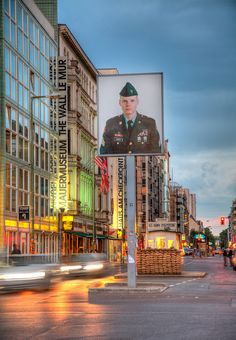Checkpoint Charlie, Berlin, Germany is now located in the Allied Museum in the Dahlem neighborhood of Berlin.  by Axe.Man