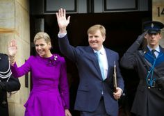 Members of the Dutch Royal Family attended a reception for the birthday of King Willem-Alexander (on April 27) at the Royal Palace Amsterdam, April 23, 2014-Queen Maxima and King Willem-Alexander