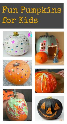 Fun pumpkin decorating ideas for kids :: Super creative halloween crafts!