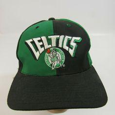 3d92c7b5d532a Vintage Boston Celtics Color Block Hat 1990 s AJD NBA Snapback Trucker  AJD   BostonCeltics