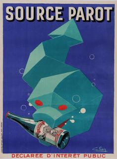 "Original Vintage French Art Deco Poster for ""Source Parot"" by Favre ca. 1930 #Vintage"