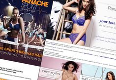 Panache Lingerie selected e-style to manage the design, development and delivery of their email marketing strategy in 2011.