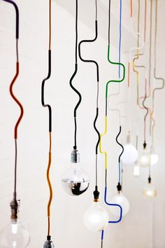 LIGHTING | Cable Jewellery Pendants by Volker Haug.Lighting is an important element on interior design projects. Choose an elegant chandelier, a vintage suspension lamp or a minimalistic ceiling light for your home. See some of the best home design ideas at www.homedesignideas.eu