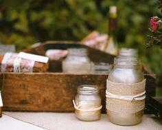 mason jar, Apple Orchard Wedding, Rustic Wedding Detail
