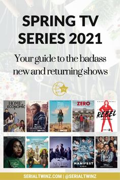 Hey Serial Fans and welcome to the Spring TV Series 2021: Your Guide To The Badass New And Returning Shows. In this guide, we are recommending you the best TV series to watch and stream this Spring. And in the Spring TV series 2021 guide, we have selected only the best badass new and returning shows premiering or released in April 2021. We selected fantasy, comedy, drama. action, dramedy, and more series. #TVSeries #TVShows #BestTVShows #ShowsToWatch Comedy Tv Series, Comedy Tv Shows, Tv Series To Watch, Book Series, Jessalyn Gilsig, Laura Donnelly, Ally Mcbeal, Famous In Love, Drama Tv