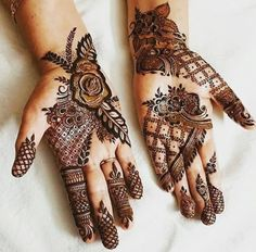 1000 Simple and Easy Henna Tattoo Designs for Brides on Wedding. Latest collection henna tattoo designs with various pattern and style for brides on wedding Henna Hand Designs, Dulhan Mehndi Designs, Mehandi Designs, Mehndi Designs Finger, Floral Henna Designs, Mehndi Design Pictures, Mehndi Designs For Girls, Wedding Mehndi Designs, Mehndi Designs For Fingers