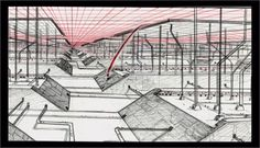 Moebius's early storyboard for Tron. #moebius #tron