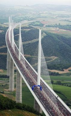 Millau bridge, France. The tallest bridge in the World.