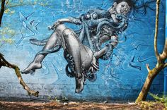 Some of the world's most beautiful art is found on the side of tagged buildings!  Graffitti...
