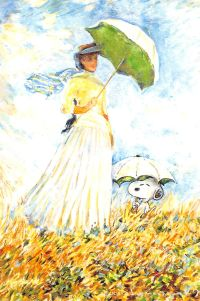 Woman with a Parasol - Madame Monet and Her Son Snoopy Love, Charlie Brown And Snoopy, Snoopy And Woodstock, Peanuts Cartoon, Peanuts Gang, Snoopy Images, Snoopy Wallpaper, Snoopy Quotes, Avengers Wallpaper