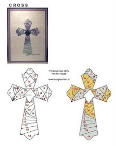 Cross Iris Fold Card. Oh how I enjoy Iris paper folding!  Glad to find this!!