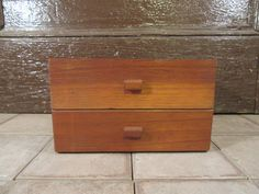 Vintage wood 2 drawer cigar box- Swan (Tampa) Admirals- solid, good condition, no cracks, beautiful by HeathersCollectibles on Etsy