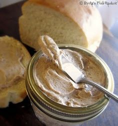 Texas Roadhouse Cinnamon Honey Butter  1 stick unsalted butter, room temperature  1/4 c. powdered sugar  1/4 c. honey  1 tsp. ground cinnamon    Whip the room temperature butter with whisk attachment for 30 seconds.  Add powdered sugar, honey and cinnamon and beat until completely combined and very smooth.  Scrape down sides of bowl and turn up speed and whip for a minute or two or until really light and fluffy.  Makes about 3/4 cup