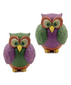 Look what I found on #zulily! Halloween Owls Figurine - Set of Two by Blossom Bucket #zulilyfinds love!!