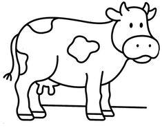 Menta Más Chocolate - RECURSOS y ACTIVIDADES PARA EDUCACIÓN INFANTIL: Dibujos para colorear: VACA y TORO Art Drawings For Kids, Art Drawings Sketches Simple, Drawing For Kids, Animal Drawings, Easy Drawings, Farm Animal Coloring Pages, Colouring Pages, Coloring Pages For Kids, Coloring Books