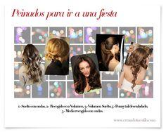Peinados para ir a una fiesta  http://creandotuestilo.com/2012/05/21/tips-de-belleza-como-peinarme-para-una-fiesta/