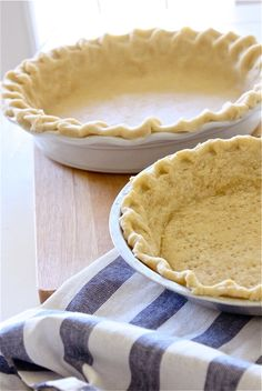 Never Fail Pie Crust - no cold ingredients, no refrigerating time required! Super easy!