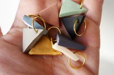 clay pendants.