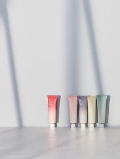 Hanyul 'Nature in Life' Line-Amorepacific Design Center - Desiree Skincare Packaging, Perfume Packaging, Cosmetic Packaging, Beauty Packaging, Bottle Packaging, Pretty Packaging, Packaging Box Design, Brand Packaging, Label Design
